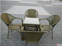出售藤制、塑料桌子椅子