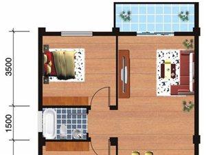 E户型2室2厅1卫83.39平米