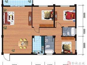 B户型3室2厅2卫111.81平米
