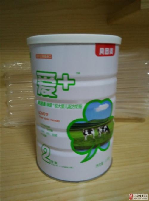 贝因美绿爱+较大婴儿配方1000g2段罐装进口牛奶