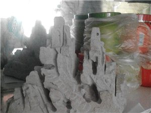 硬质材料雕刻盆景假山、不怕风吹日晒、雨淋、绿色环保