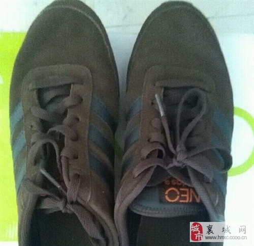 转让adidas,NEO系列真皮运动鞋
