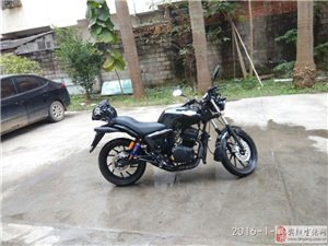 转让9.5成新大地鹰王摩托车DD150双缸风冷