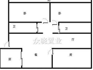 六合区 荣鼎幸福城 3室 118平米