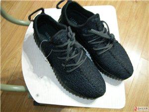 阿迪爆款運動鞋,黑色透氣