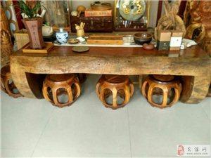 澳门永利娱乐场官网一套包浆15年的缅甸花梨茶桌台