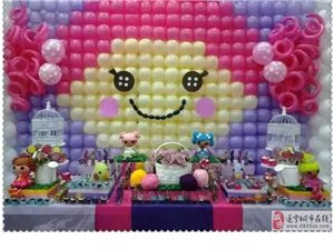 别具一格的宝宝宴气球场景布置,氦气球充装,气球小丑