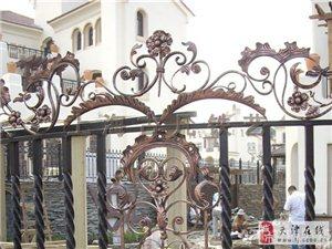 天津伟业定做别墅庭院门,栏杆护栏,阳台护栏
