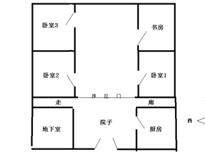 峄城水务局家属院四室一厅带院子150平32万