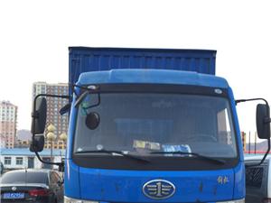 出售蓝色解放厢式货车