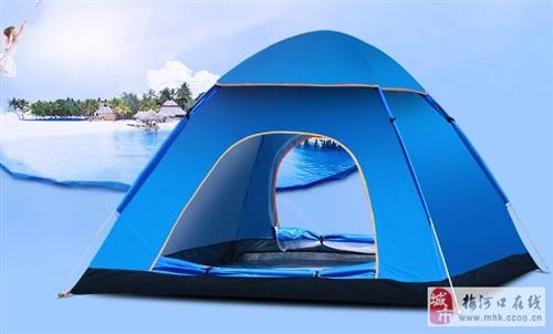 全自动弹簧帐篷,一秒速开,适合三到四人,尺寸200