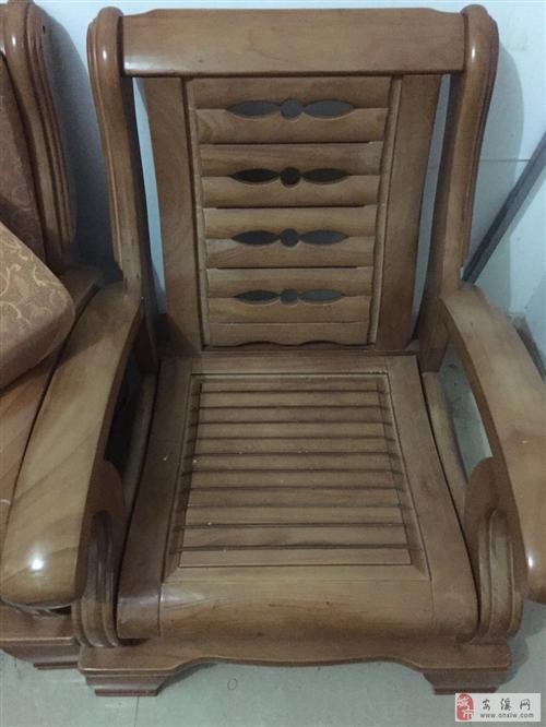 低價轉讓全套自用7座實木沙發|二手沙發|9成新