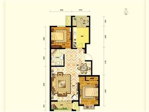 东都汇A户型两室两厅一卫98�O