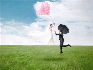 樱花摄影的悬浮婚纱照