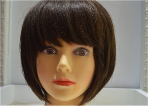 【标美】100% 全真发 人工织 假发套